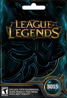 League of Legends: 3015 Riot Points Card