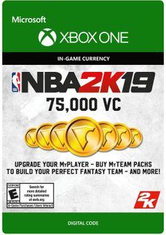 NBA 2K19: 75,000 VC Xbox One