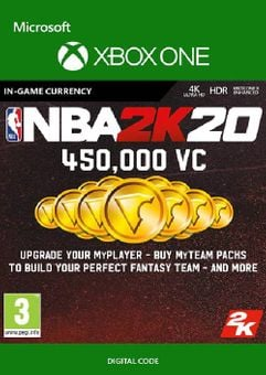 NBA 2K20: 450,000 VC Xbox One