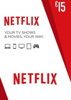 Netflix Gift Card - 15 Euro