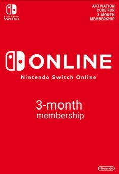 Membresía de 3 meses (90 días) para Nintendo Switch Online (EU)