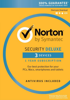 Norton Security Deluxe - 1 User 3 Devices