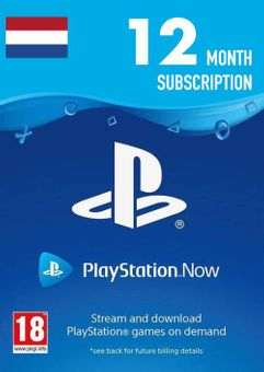 Playstation Now -12 Month Subscription (Netherlands)