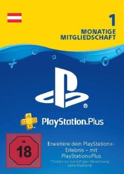 Playstation Plus - 1 Month Subscription (Austria)