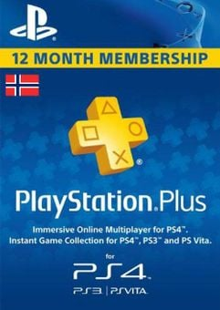 Playstation Plus - 12 Month Subscription (Norway)