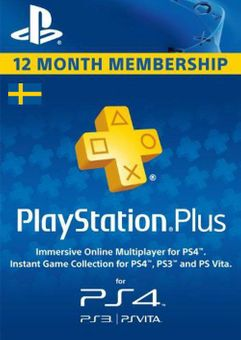 Playstation Plus - 12 Month Subscription (Sweden)