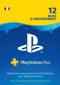 PlayStation Plus (PS+) - 12 Month Subscription (France)