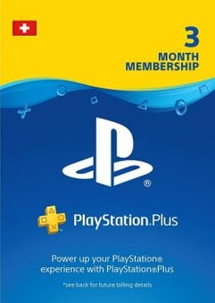 PlayStation Plus (PS+) - 3 Month Subscription (Switzerland)