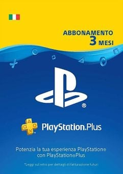 PlayStation Plus (PS+) - 3 Month Subscription (Italy)