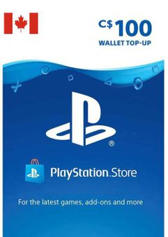 PlayStation Network (PSN) Card - 100 CAD (CANADA)
