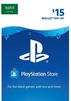 PlayStation Network (PSN) Card - 15 USD (KSA)