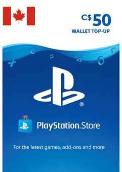 Tarjeta PlayStation Network (PSN) - 50 CAD (CANADA)