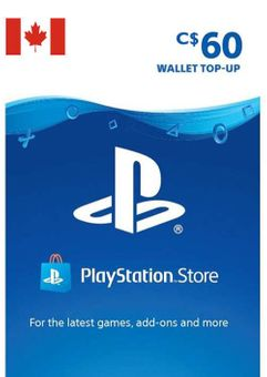 Tarjeta PlayStation Network (PSN) - 60 CAD (CANADA)