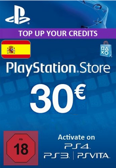 PlayStation Network (PSN) Card - 30 EUR (Spain)