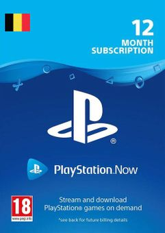 Playstation Now - 12 Month Subscription (Belgium)