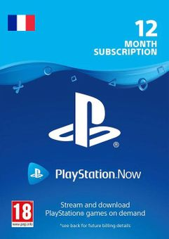 PlayStation Now - 12 Month Subscription (France)