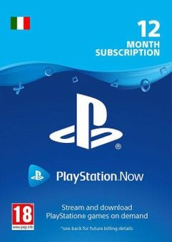 PlayStation Now 12 Month Subscription (Italy)