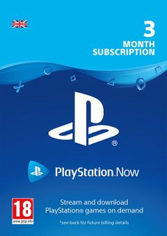 PlayStation Now 3 Month Subscription (UK)