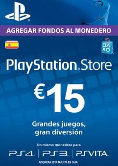 PlayStation Network (PSN) Card - 15 EUR (Spain)