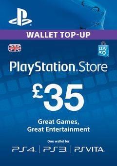 Playstation Network Card - £35 (PS Vita/PS3)