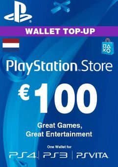 PlayStation Network (PSN) Card - 100 EUR (Netherlands)