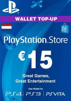 PlayStation Network (PSN) Card - 15 EUR (Netherlands)