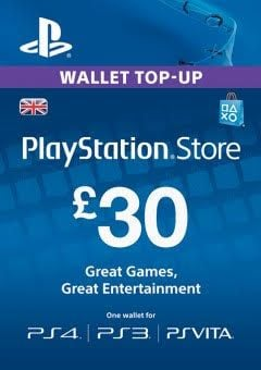 Playstation Network (PSN) Card - 30 GBP