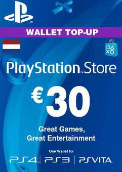 PlayStation Network (PSN) Card - 30 EUR (Netherlands)