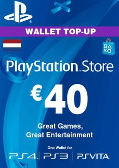 PlayStation Network (PSN) Card - 40 EUR (Netherlands)