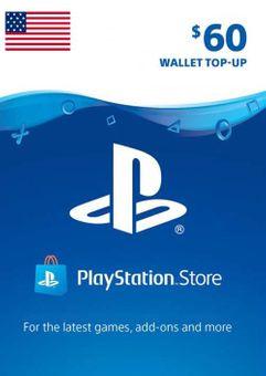 PlayStation Network (PSN) Card - 60 USD (USA)
