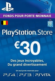 PlayStation Network (PSN) Card - 30 EUR (Belgium)