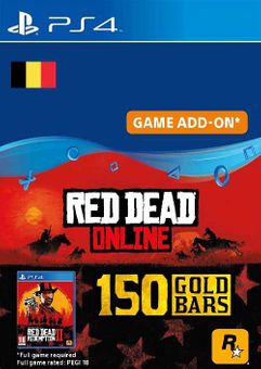 Red Dead Online - 150 Gold Bars PS4 (Belgium)