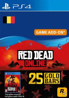 Red Dead Online - 25 Gold Bars PS4 (Belgium)