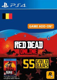 Red Dead Online - 55 Gold Bars PS4 (Belgium)