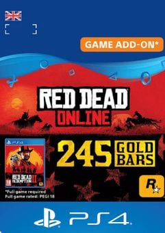 Red Dead Online: 245 Gold Bars PS4 (UK)