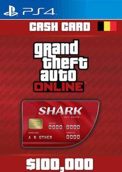 Grand Theft Auto Online Red Shark Cash Card PS4 (Belgium)