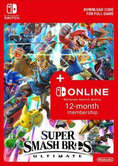 Super Smash Bros. Ultimate + 12 Month Membership Switch (EU)