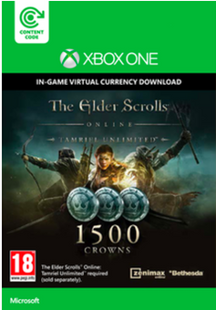 The Elder Scrolls Online Tamriel Unlimited 1500 Crowns Xbox One - Digital Code