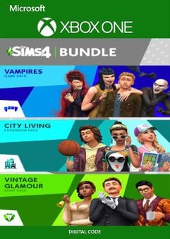 The Sims 4 Bundle - City Living, Vampires, Vintage Glamour Stuff Xbox One