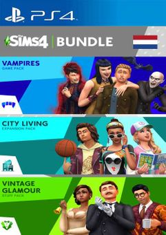 The Sims 4 Bundle - City Living  Vampires  Vintage Stuff Pack PS4 (Netherlands)