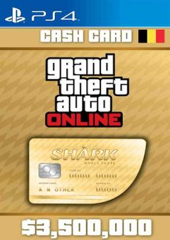 Grand Theft Auto Online Whale Shark Cash Card PS4 (Belgium)