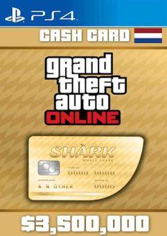 Grand Theft Auto Online Whale Shark Cash Card PS4 (Netherlands)