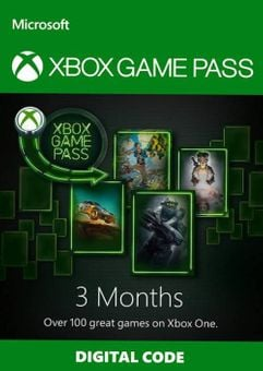 3 Month Xbox Game Pass Trial Xbox One