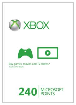 Xbox Live 240 Microsoft Points (Xbox 360)