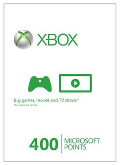 Xbox Live 400 Microsoft Points (Xbox 360)