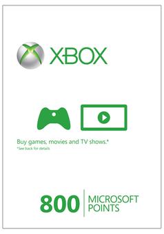Xbox Live 800 Microsoft Points (Xbox 360)