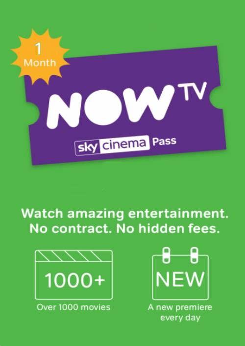 NOW TV - 1 Month Cinema Pass