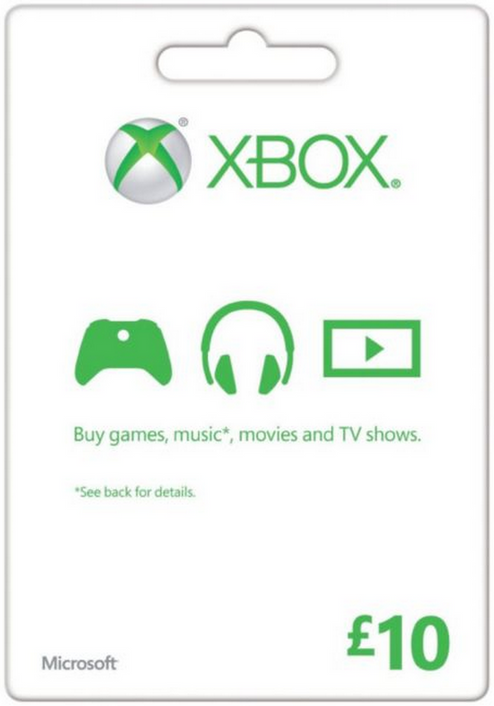 Microsoft Gift Card - £10 (Xbox One/360)