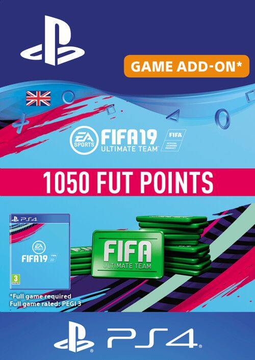 1050 FIFA 19 Points PS4 PSN Code - UK account
