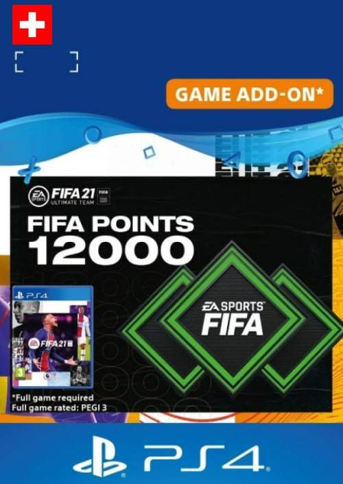 FIFA 21 Ultimate Team 12000 Points Pack PS4/PS5 (Switzerland)